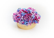 Bouquet of lilacs and forget-me-nots Stock Photo