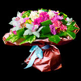 Bouquet of lilias,  roses and chrysanthemum Royalty Free Stock Images
