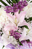 Bouquet of lilies and chrysanthemums Royalty Free Stock Photo