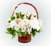 Bouquet of lilies and roses Royalty Free Stock Image