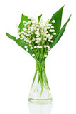 Bouquet of lilies of the valley Royalty Free Stock Photo