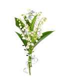 Bouquet with lily of the valey Royalty Free Stock Photography