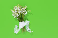 A bouquet of Lily of the Valey with decoration Royalty Free Stock Photo