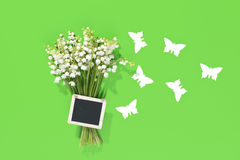 A bouquet of Lily of the Valey with decoration Stock Images