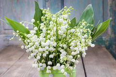 Bouquet of lily of the valley flowers Stock Image
