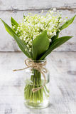 Bouquet of lily of the valley flowers. Spring flower decoration Stock Photo