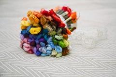 Bouquet lumineux de ficelle de mulina Images libres de droits