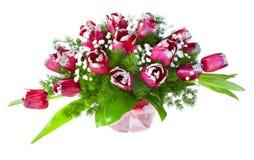 Bouquet lumineux de fleur des tulipes Photos libres de droits
