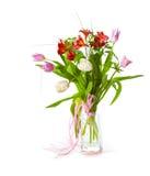Bouquet lumineux de fleur en glace Images stock
