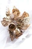 Bouquet métallique de mariage Photos stock