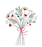 Bouquet of meadow flowers Stock Photos