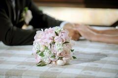 Bouquet mignon de mariage Photographie stock libre de droits