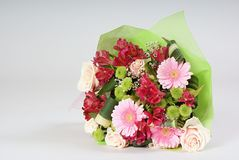 Bouquet of miscellaneous flowers Royalty Free Stock Photo