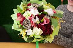 Bouquet of mix flowers Royalty Free Stock Photo