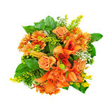 Bouquet of mixed orange flowers Royalty Free Stock Images
