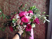Bouquet in my hand Royalty Free Stock Image