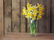 Bouquet of narcissuses. Still life with a bouquet of narcissuses Stock Image