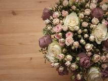 Bouquet from natural and artifical flowers Royalty Free Stock Photo