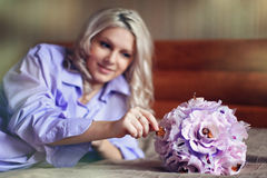 Bouquet for newborns Royalty Free Stock Photos