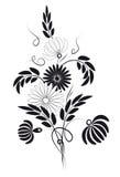 Bouquet. Noir et blanc. Images stock
