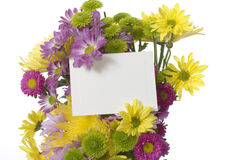 Bouquet with note card Stock Image