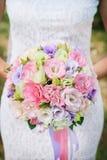 bouquet nuptiale d'eustoma Photos stock