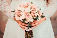 Bouquet nuptiale dans des couleurs sensibles Image libre de droits