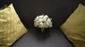 Bouquet nuptiale de mariage banque de vidéos