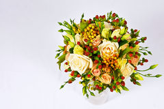 Bouquet nuptiale des roses Photos stock