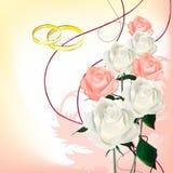 Bouquet nuptiale des roses Illustration Libre de Droits
