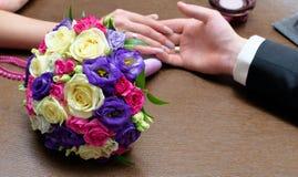 Bouquet nuptiale des roses de petit morceau Images libres de droits