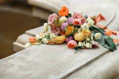 Bouquet nuptiale des tulipes en gros plan photographie stock libre de droits