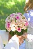 Bouquet nuptiale le jour du mariage Photographie stock