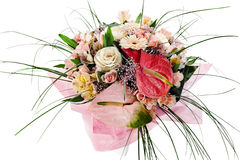 Free Bouquet Of Anthuriums, Roses And Orchids Royalty Free Stock Photo - 27406165