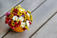 Bouquet Of Autumn Flowers And Plants Royalty Free Stock Photography