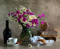 Bouquet Of Camomiles And Carnations Royalty Free Stock Image