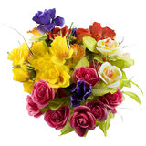Bouquet Of Colored Silk Flowers Royalty Free Stock Photography