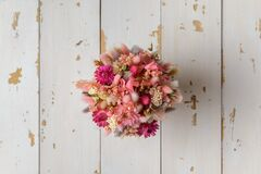 Free Bouquet Of Dried Flowers For A Girl Stock Image - 212585781