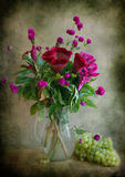 Bouquet Of Flowers And Vine Stock Photo