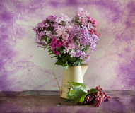 Bouquet Of Flowers And Vine Stock Image