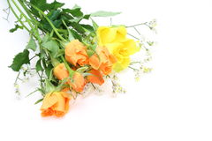 Bouquet Of Roses And Babys Breath Stock Images