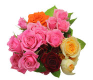 Bouquet Of Roses With Leaves Stock Photography