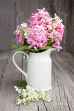 Bouquet Of Spring Flowers In A Vase Stock Photography