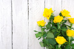 Free Bouquet Of Yellow Roses On Rustic Wooden Background. Valentine S Stock Image - 77991801