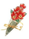 Bouquet in one hundred dollars Royalty Free Stock Photos