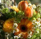 Bouquet orange Photos libres de droits