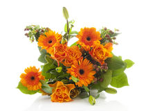 Bouquet of orange flowers Stock Images