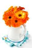 Bouquet of orange flowers Stock Photo