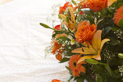 Bouquet of orange flowers Royalty Free Stock Photo