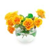 Bouquet of orange roses stock photography